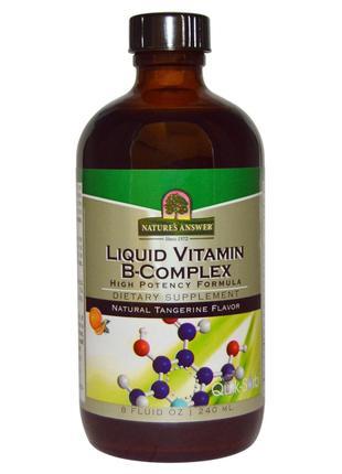 Nature's Answer, Комплекс жидких витаминов группы В с натураль...