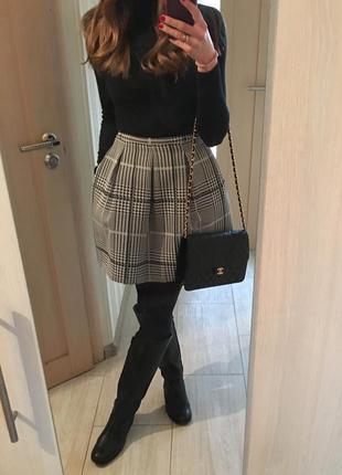 Дизайнерская юбка в клетку италия 28.5