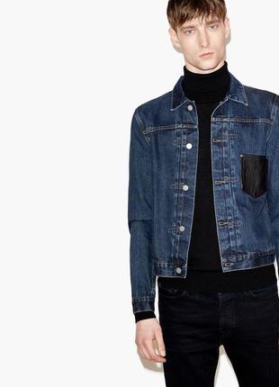 The kooples дизайнерская мужская джинсовая куртка пиджак