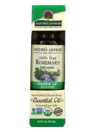 Nature's Answer, Органические эфирные масла, масло розмарина, ...