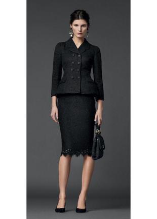 Dolce and gabbana оригинал италия черная юбка карандаш кружево
