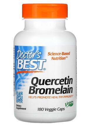 Doctor's Best, кверцетин с бромелаином, 180 вегетарианских капсул