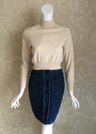 Sandro paris оригинал джинсовая юбка карандаш