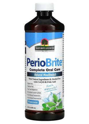 Nature's Answer, PerioBrite, натуральная жидкость для полоскан...