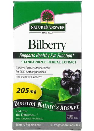 Nature's Answer, черника, стандартизированный экстракт натурал...