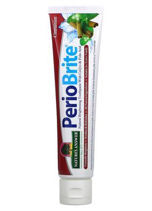 Nature's Answer, PerioBrite, натуральная осветляющая зубная па...