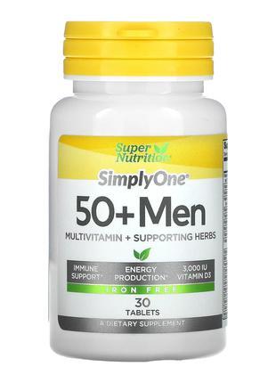 Super Nutrition, SimplyOne, для мужчин старше 50 лет, 30 таблеток