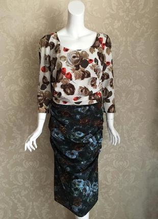 Dolce and gabbana оригинал италия нарядное шелковое платье мид...