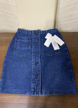 Sandro paris оригинал новая джинсовая юбка карандаш на болтах