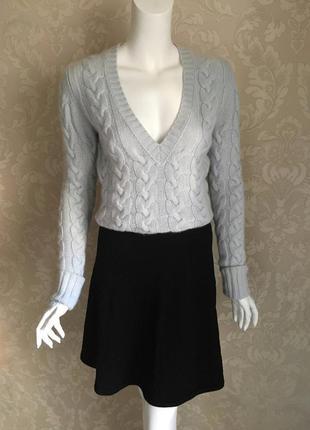 Massimo dutti черная трикотажная юбка хлопок шелк
