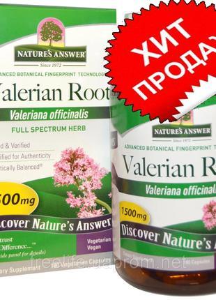 Nature's Answer, Корень валерианы, трава полного спектра, 1500...