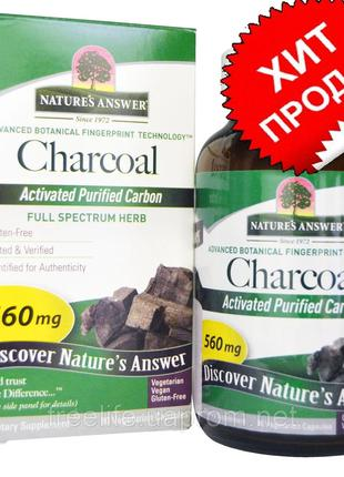 Nature's Answer, Charcoal, Activated Purified Carbon, 560 mg, ...