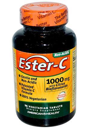 American Health, Эстер-C, 1000 мг, 90 растительных шт., официа...