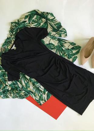 Шикарное нарядное чёрное платье h&m. размер s.