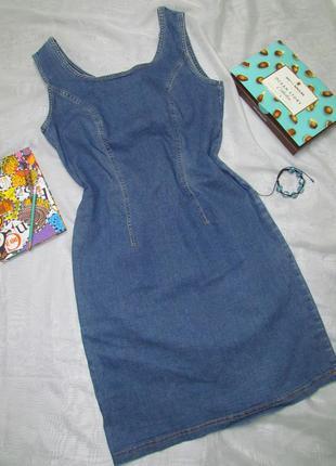 Джинсовое стрейчевое платье marks & spencer