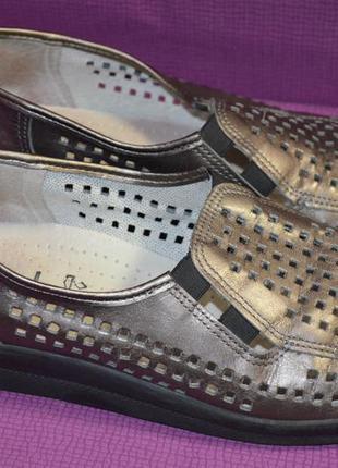 Кожаные туфли мокасины belvida 41 р.