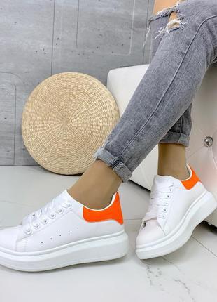 ❤ женские белые кроссовки экокожа ❤
