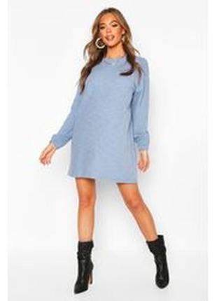 Boohoo. эффектное платье -свитшот баллон uk12 новое.