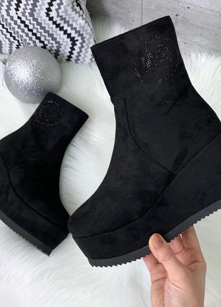 ❤ женские черные  ботинки полусапожки ботильоны ❤