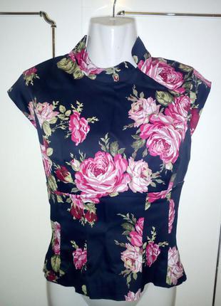 Шикарная блуза блузка в цветы от karen millen