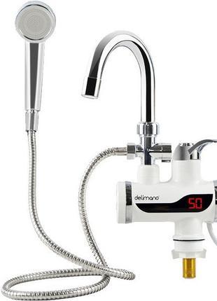 Проточный электрический кран водонагреватель с душем Delimano ...