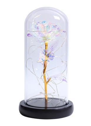 Роза в колбе Forever Rose с LED подсветкой 8 x 23 см