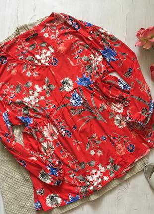 Яркая блуза в цветочный принт (5xl)