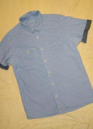 Джинсовая тенниска, рубашка с коротким рукавом