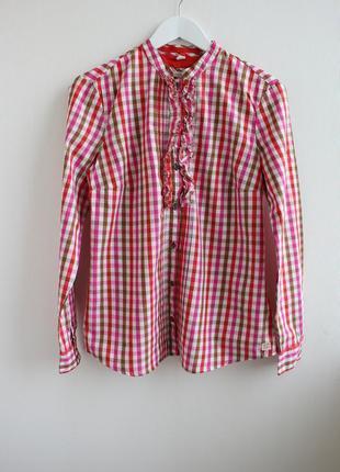 Распродажа!!! фирменная рубашка в клетку, рюши esprit