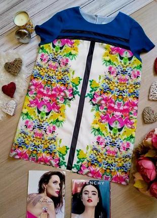 Asos шикарное платье в цветы с сеточкой размер l-xl