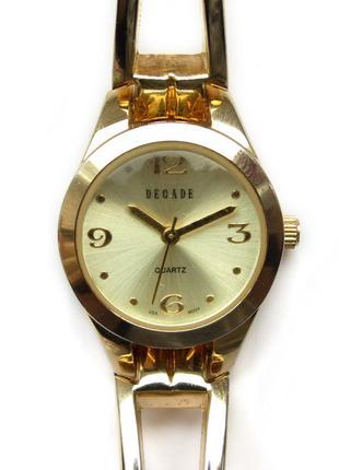 Decade золотистые изящные часы из сша механизм usa miyota