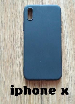 Чехол Бампер на iphone Х чёрный