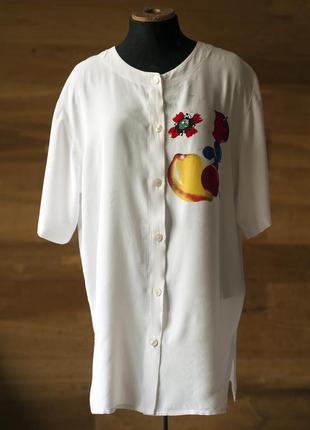 Женская белая блузка с фруктами mamut moden, размер l