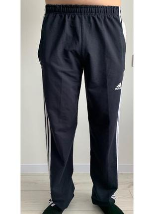 Спортивні чоловічі штани адідас, чорні спортивні штани.