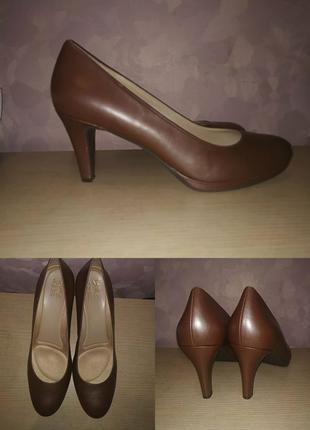 Туфли 43-44 р лодочки кожаные