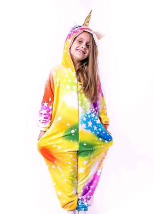 Кигуруми Звездный единорог пижама домашняя одежда