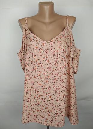 Блуза новая легкая красивая в принт большого размера peacocks ...