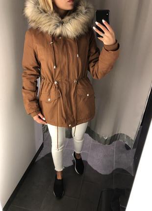 Тёплая парка еврозима удлинённая куртка. amisu. размеры уточня...