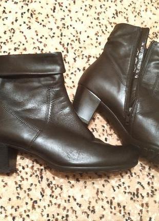 Женские кожаные ботинки, сапоги 39р/25см, gabor