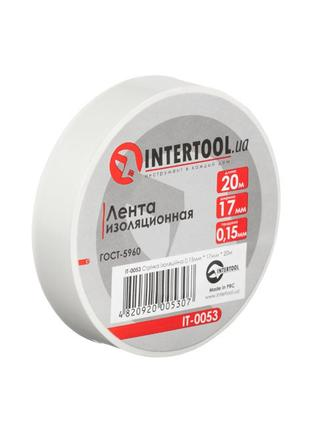Лента изоляционная 0.15мм*17мм*20м белая INTERTOOL IT-0053