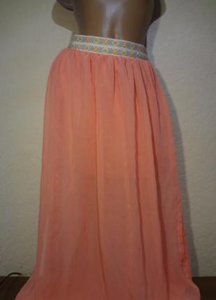 Красивая длинная юбка boho размер m l