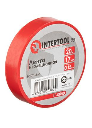 Лента изоляционная 0.15мм*17мм*20м красная INTERTOOL IT-0050