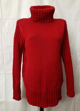 Коттоновый свитер водолазка гольф heine большой размер