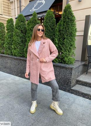 Мягкое удобное женское пальто-пиджак из каракуля на подкладке ...