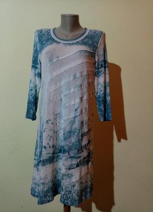 Красивое нежное трикотажное платье
