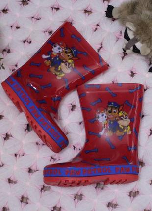 Яркие резиновые сапоги щенячий патруль