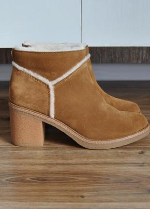 Кожаные ботинки ботильоны ugg kasen / шкіряні черевики