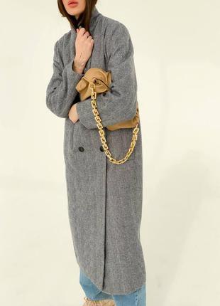 Кашемировое пальто длинное