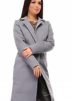 Пальто 333543-2 серый осень