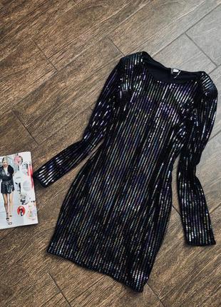 Шикарное облегающее бархатное платье в паетки